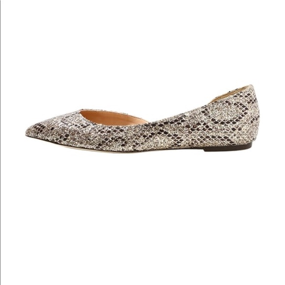 963898fc83bd J. Crew Shoes | Jcrew Glitter Snake Sadie Flats For Sale Size 7 ...